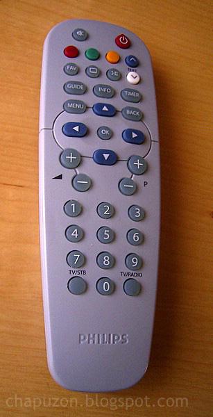 mando a distancia de decodificador TDT - Philips DTR 300 (receptor DVB-T)