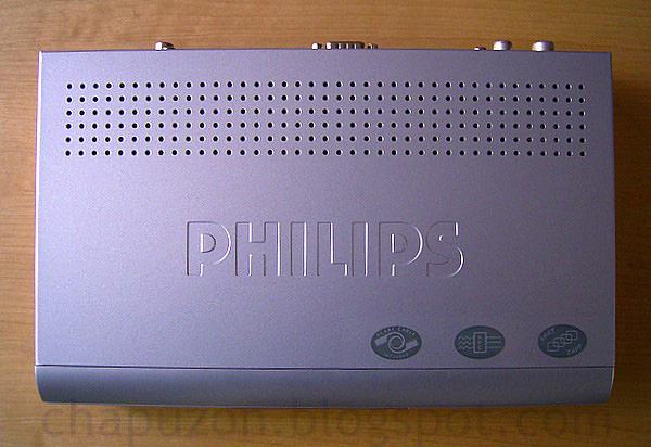 receptor de TDT (dvb-t) Philips DTR-300 - top view